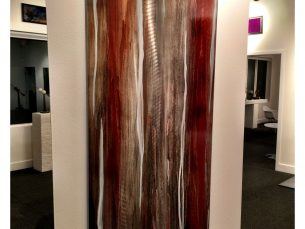 Little Voices : Earthy Rust & Silver Contemporary Metal Artwork