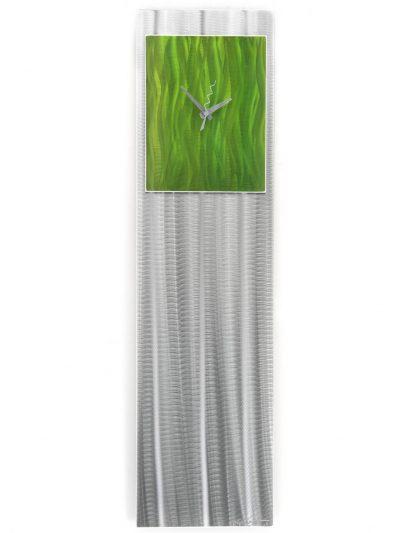 Apple Green Vibe Clock - Nicholas Yust Fine Metal Art