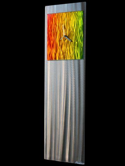 Apple Green/Yellow/Orange Metal Clock - Nicholas Yust Fine Metal Art
