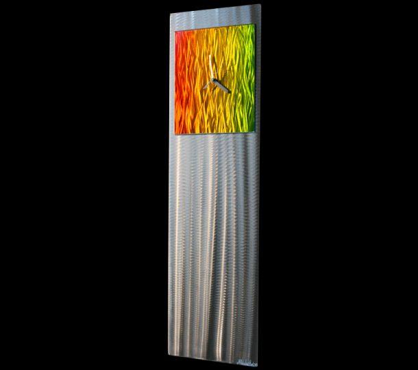 Apple Green/Yellow/Orange Metal Clock - our artisans Fine Metal Art