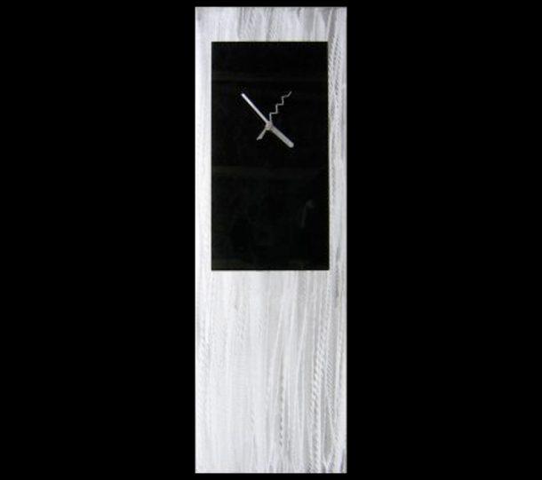 Black Metal Clock - our artisans Fine Metal Art