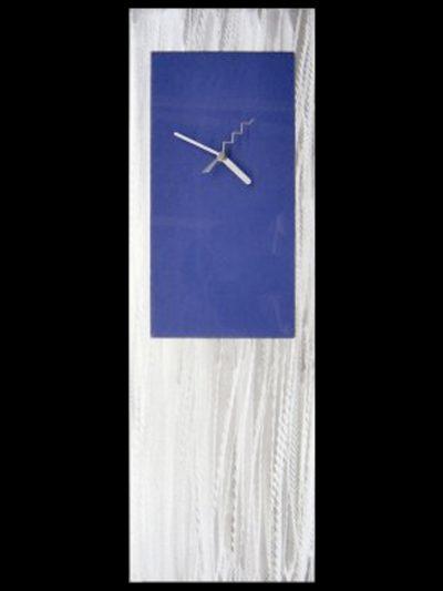 Blue Metal Clock - Nicholas Yust Fine Metal Art