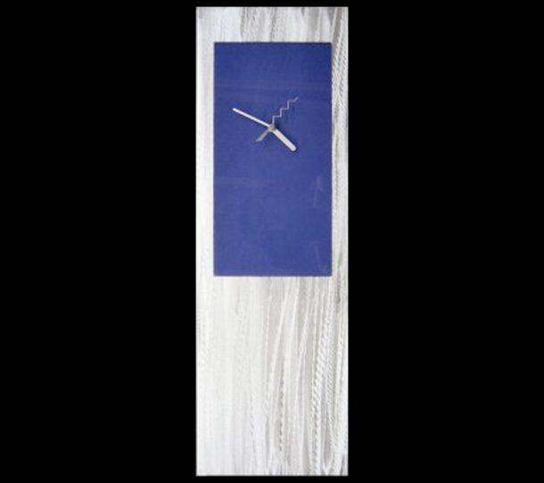 Blue Metal Clock - our artisans Fine Metal Art