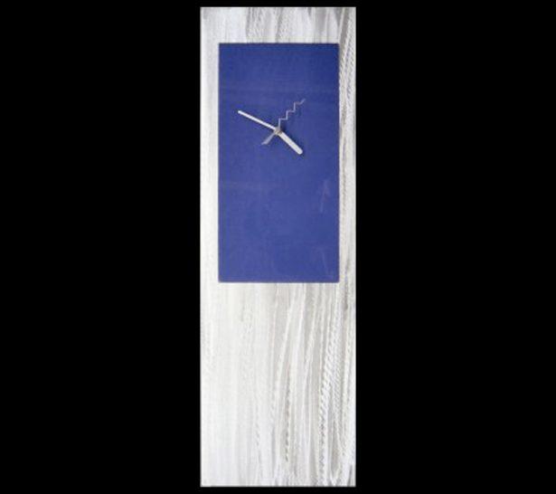 Blue Metal Clock - our artisan Fine Metal Art