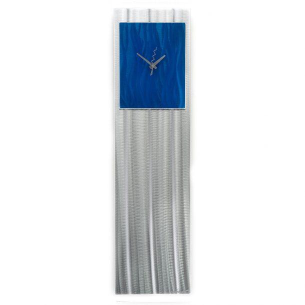 Blue Vibe Clock - our artisans Fine Metal Art