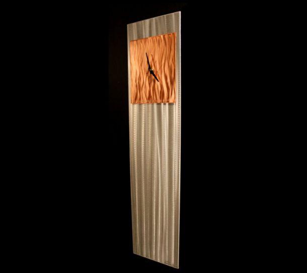 Copper Vibe Clock - our artisans Fine Metal Art