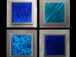 Noia (4 panel square) - our artisans Fine Metal Art