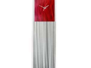 Raspberry/Red Vibe Clock - our artisans Fine Metal Art