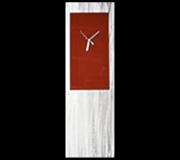 Red Metal Clock - our artisan Fine Metal Art