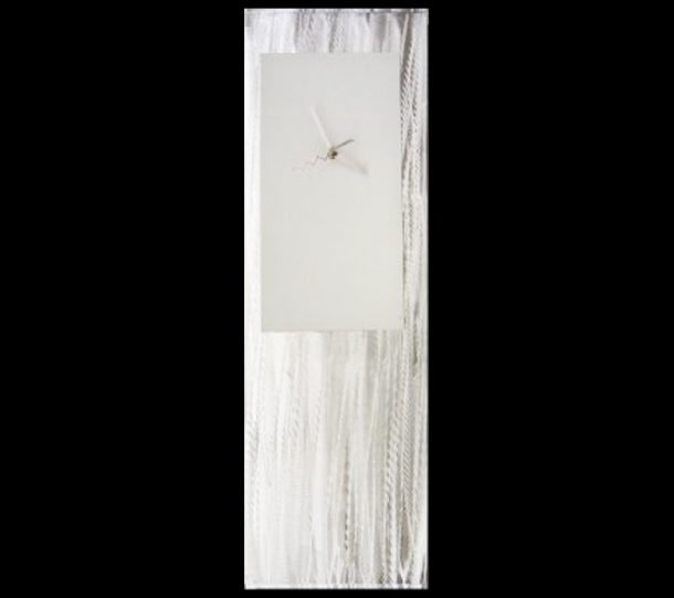 White Metal Clock - our artisans Fine Metal Art