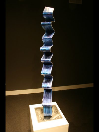 Blue Accordion - Nicholas Yust Fine Metal Art