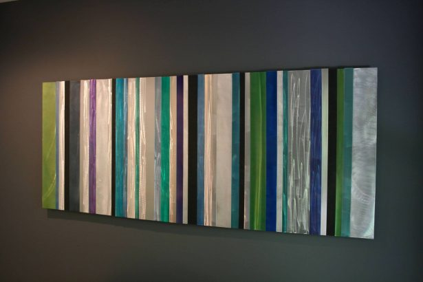 Cool Striations - our artisan Fine Metal Art
