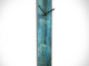 Corrosion Blue Clock - our artisans Fine Metal Art