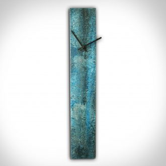 Corrosion Blue Clock - our artisan Fine Metal Art