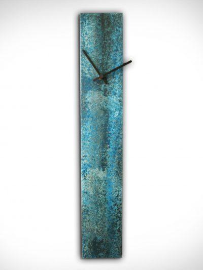 Corrosion Blue Clock - Nicholas Yust Fine Metal Art