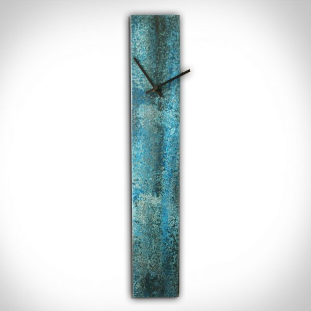 Corrosion Blue Clock - our artisans Fine Metal Art