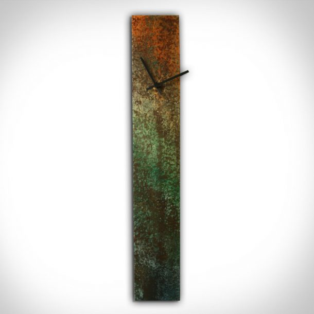 Corrosion Colored Clock - our artisans Fine Metal Art