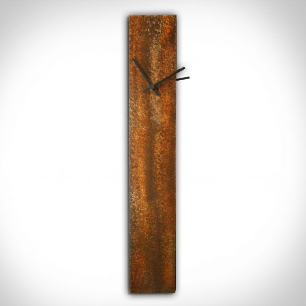 Corrosion Orange Clock - our artisan Fine Metal Art
