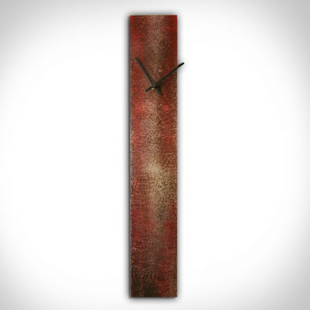Corrosion Red Clock - our artisans Fine Metal Art