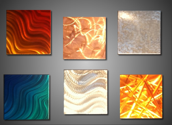 Hand-Crafted Sample Art Panel - our artisan Fine Metal Art