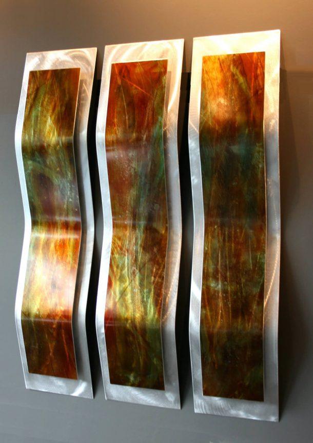 Harvest 3-Panel - our artisans Fine Metal Art