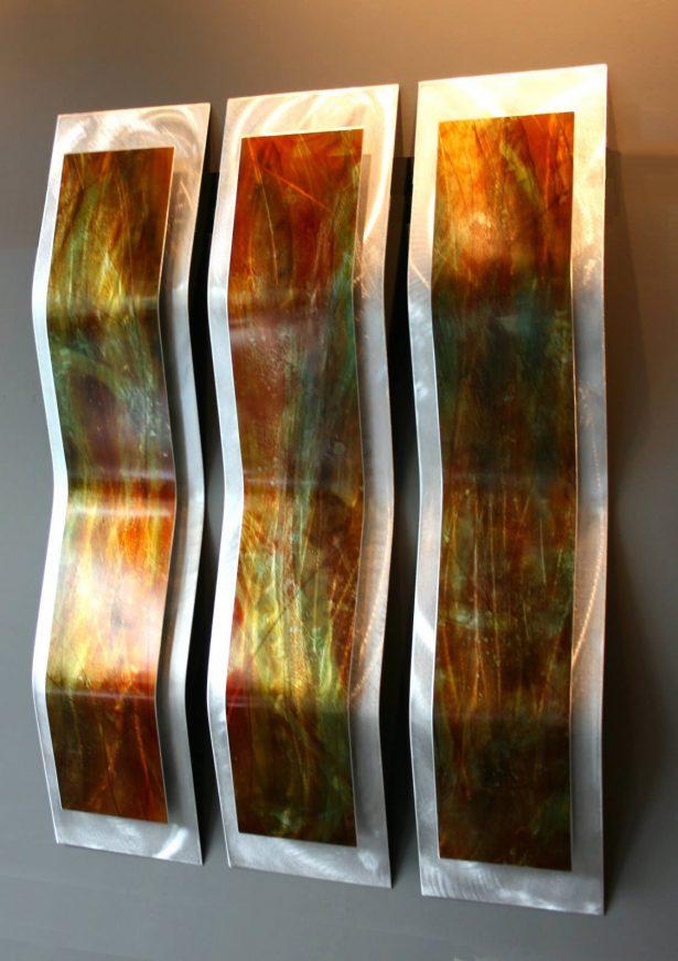 Harvest 3-Panel - our artisan Fine Metal Art