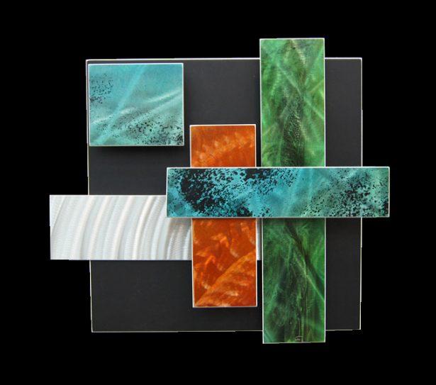 Ice Spectrum 6 - our artisan Fine Metal Art