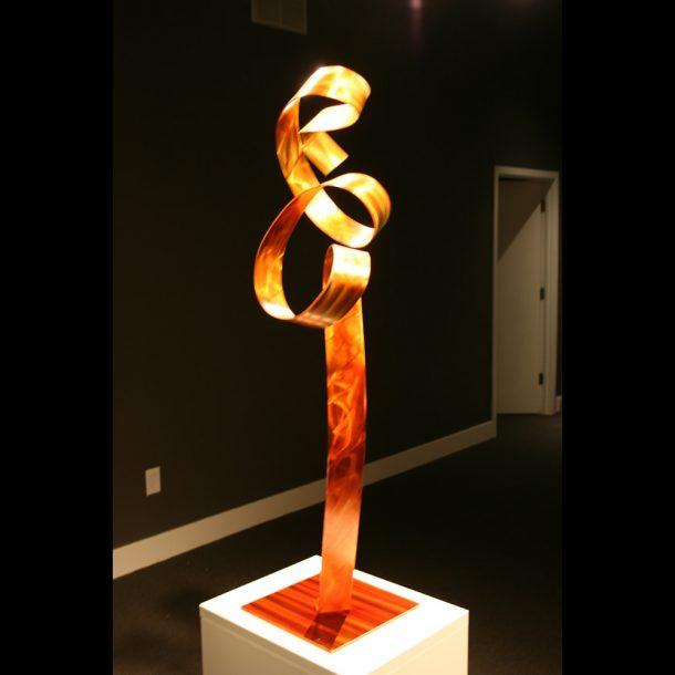 Orange Flamingo - our artisans Fine Metal Art