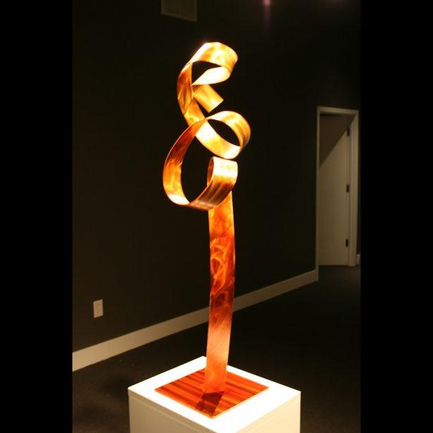 Orange Flamingo - our artisan Fine Metal Art
