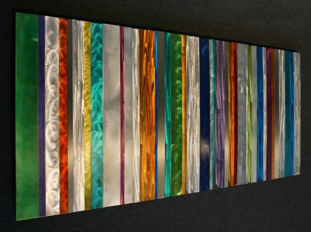 Spectral Striations - our artisan Fine Metal Art