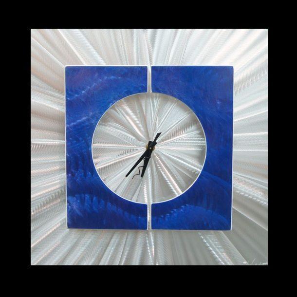 Splice Clock Blue - our artisans Fine Metal Art