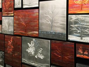 Warm Landscape Collage - our artisans Fine Metal Art