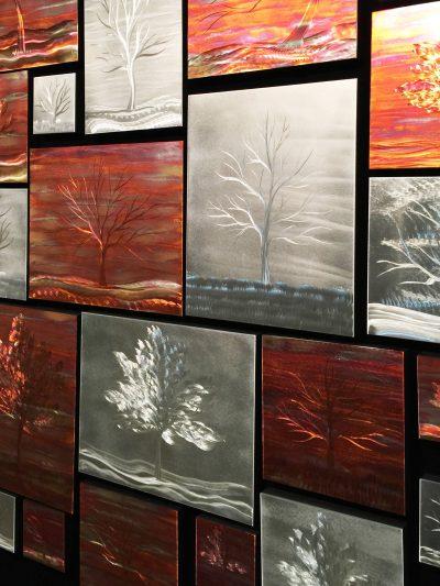 Warm Landscape Collage - Nicholas Yust Fine Metal Art