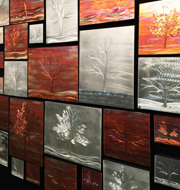 Warm Landscape Collage - our artisans Fine Metal Art