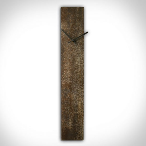 Corrosion Brown Clock - our artisans Fine Metal Art