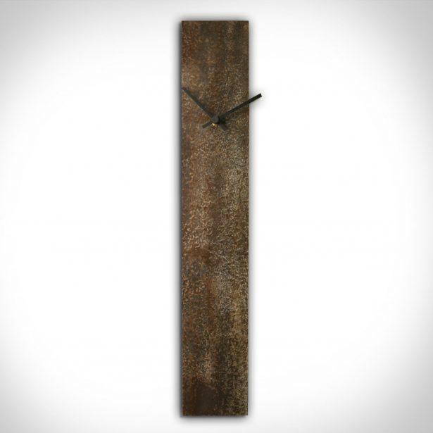Corrosion Brown Clock - our artisan Fine Metal Art