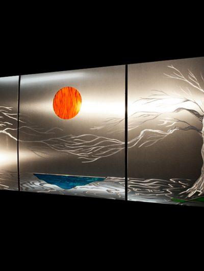 Lavish Coast (v1) Metal Tree Wall Art - Nicholas Yust Fine Metal Art