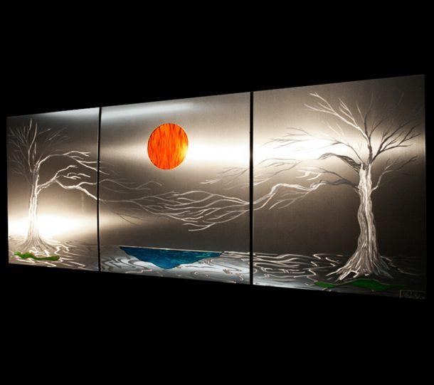 Lavish Coast (v1) Metal Tree Wall Art - our artisans Fine Metal Art