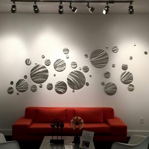 Fly Away : Huge Circles Modern Metal Wall Covering