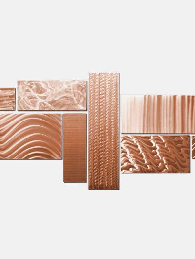 Crystallized Grid Copper - Nicholas Yust Fine Metal Art