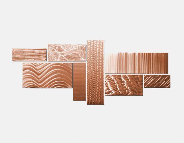 Crystallized Grid Copper - our artisans Fine Metal Art